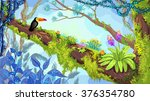 jungle forest. illustration of... | Shutterstock .eps vector #376354780