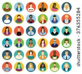 young people   icon set. | Shutterstock .eps vector #376355284