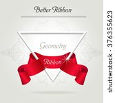 cristal triangles with red... | Shutterstock .eps vector #376355623