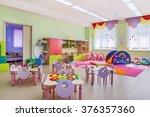 kindergarten room with toys. | Shutterstock . vector #376357360