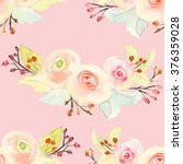 seamless pattern with flowers... | Shutterstock . vector #376359028