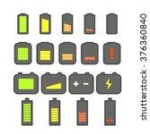 different accumulator status... | Shutterstock .eps vector #376360840