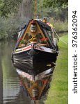 narrow boat moored on the...