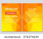 abstract vector modern flyers... | Shutterstock .eps vector #376374634