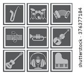 set of musical instruments.... | Shutterstock .eps vector #376377184