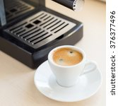 brewing classic espresso with... | Shutterstock . vector #376377496