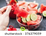 homemade popsicles with... | Shutterstock . vector #376379059
