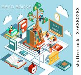 the concept of learning  read... | Shutterstock .eps vector #376380283