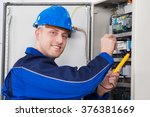 male technician examining...   Shutterstock . vector #376381669