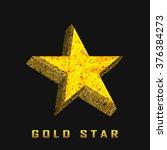single golden 3d star shine on...   Shutterstock .eps vector #376384273