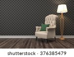 interior with chair. 3d... | Shutterstock . vector #376385479