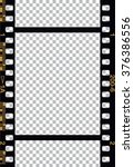 black 35 mm movie film strip | Shutterstock .eps vector #376386556