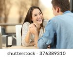 happy couple dating and... | Shutterstock . vector #376389310