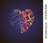 bright heart with colored lines ... | Shutterstock .eps vector #376391008