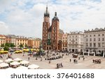 Old Market In Cracow  Poland