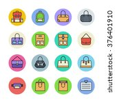 clothing and accessories icons | Shutterstock .eps vector #376401910