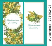 floral invitation   card with... | Shutterstock .eps vector #376402429