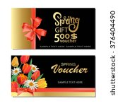 spring gift cards and vouchers... | Shutterstock .eps vector #376404490