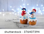 Christmas Cupcakes With Lights...