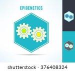 vector dna epigenetics and... | Shutterstock .eps vector #376408324