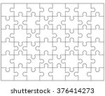 white puzzle  vector... | Shutterstock .eps vector #376414273
