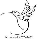 hummingbird | Shutterstock .eps vector #37641451