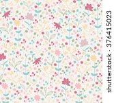 seamless spring pattern with... | Shutterstock .eps vector #376415023