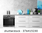 modern kitchen interior  close... | Shutterstock . vector #376415230