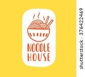 noodle cafe logotype. vector... | Shutterstock .eps vector #376422469