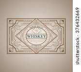 western whiskey label vintage... | Shutterstock .eps vector #376432669
