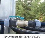 water valve and plastic pipe | Shutterstock . vector #376434193