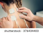 electro stimulation in physical ... | Shutterstock . vector #376434403