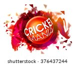 stylish text cricket mania on... | Shutterstock .eps vector #376437244