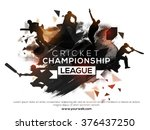 silhouette of players in... | Shutterstock .eps vector #376437250