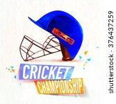 creative blue helmet for... | Shutterstock .eps vector #376437259