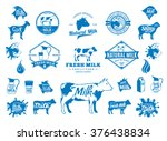 vector milk logo  splashes ... | Shutterstock .eps vector #376438834