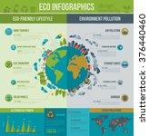 ecology infographics. vector... | Shutterstock .eps vector #376440460
