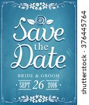 save the date. wedding... | Shutterstock .eps vector #376445764