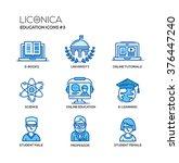 set of modern vector education... | Shutterstock .eps vector #376447240