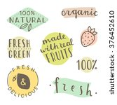 set of hand drawn cute labels.... | Shutterstock .eps vector #376452610