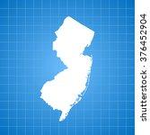 map of new jersey | Shutterstock .eps vector #376452904
