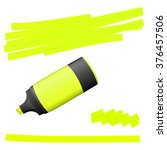 yellow colored high lighter... | Shutterstock .eps vector #376457506
