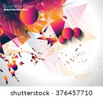abstract background with shapes ... | Shutterstock .eps vector #376457710