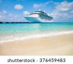 white cruise ship docked at...   Shutterstock . vector #376459483