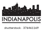 abstract skyline indianapolis ... | Shutterstock .eps vector #376461169