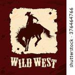 wild west vector background... | Shutterstock .eps vector #376464766