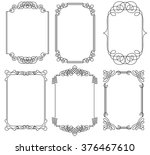 collection of frames | Shutterstock .eps vector #376467610