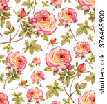 seamless floral pattern with... | Shutterstock . vector #376468900