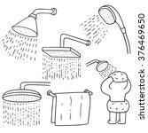 vector set of shower | Shutterstock .eps vector #376469650