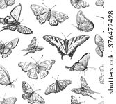 seamless pattern a collection... | Shutterstock .eps vector #376472428